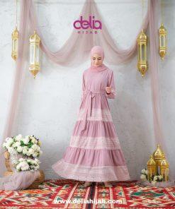 Baju Gamis Wanita Renda - Kareena Dress - Delia Hijab