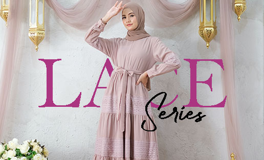 Baju Muslim Renda Terbaru - Model Baju Lebaran Idul Fitri 2021 Cat 2 Beauty in Laces Delia Hijab