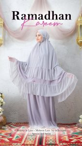 Busana Baju Muslim Ramadhan 2021 - Mukena Sholat Renda - Delia Hijab M