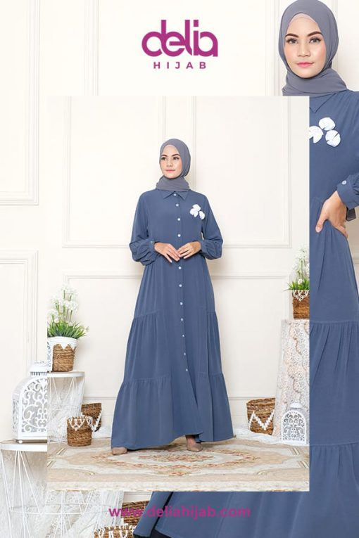 Baju Gamis Casual - Faranisa Dress - Delia Hijab
