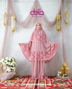 Mukena Sholat Polos Renda - Mukena Lebanon - Delia Hijab