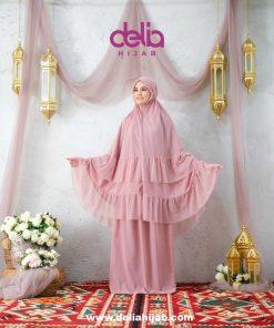 Mukena Sholat Polos Renda - Mukena Libya - Delia Hijab
