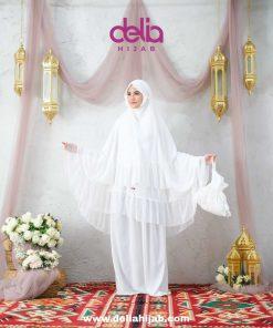 Mukena Sholat Polos Renda - Mukena London - Delia Hijab