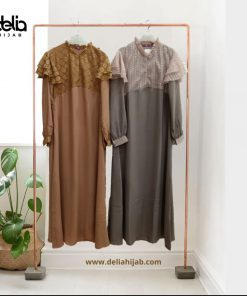 Baju Gamis Renda - Larissa Dress - Delia Hijab