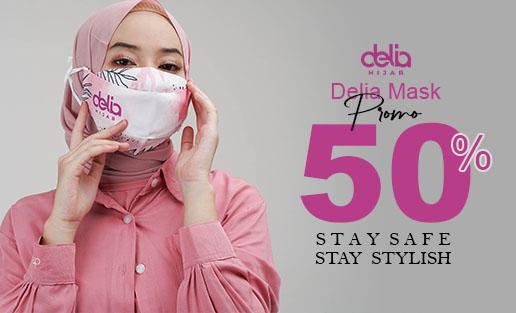 Promo Masker Kain Hijab - Masker Kain 2 Lapis Delia Hijab Sukabumi Cat 2
