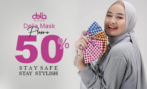 Promo Masker Kain Hijab - Masker Kain 2 Lapis Delia Hijab Sukabumi Cat 3