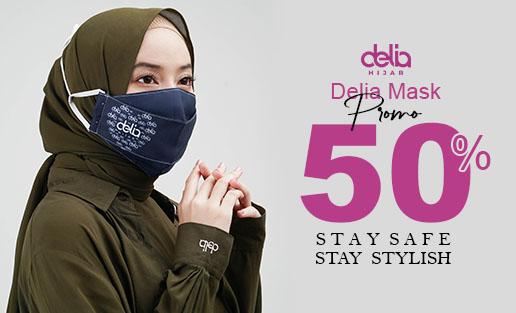 Promo Masker Kain Hijab - Masker Kain 2 Lapis Delia Hijab Sukabumi Cat 4