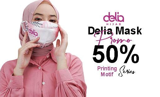Promo Masker Kain Hijab - Masker Kain 2 Lapis Delia Hijab Sukabumi Cat B