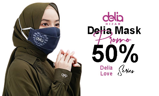 Promo Masker Kain Hijab - Masker Kain 2 Lapis Delia Hijab Sukabumi Cat D