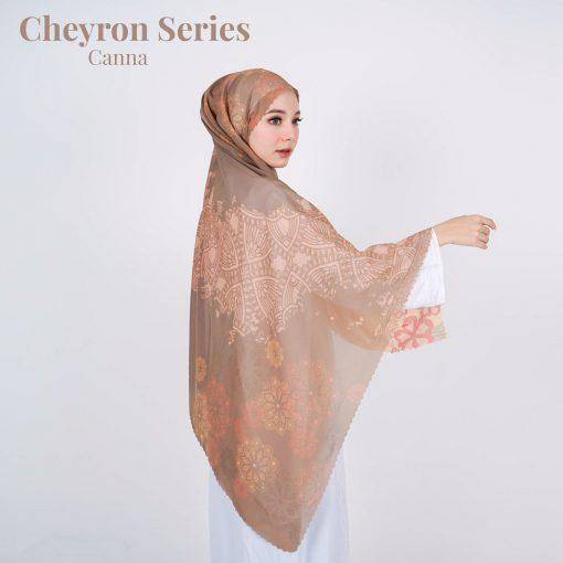 Scarf Motif Modern - Cheyron Scarf - Canna - Delia Hijab