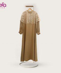 Baju Gamis Modern - Larrita Dress - Delia Hijab Cream