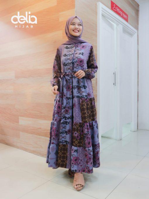 Baju Gamis Modern - Najmi Dress - Delia Hijab