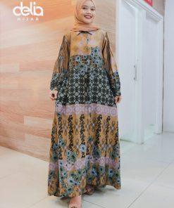 Baju Gamis Modern - Nuka Dress - Delia Hijab