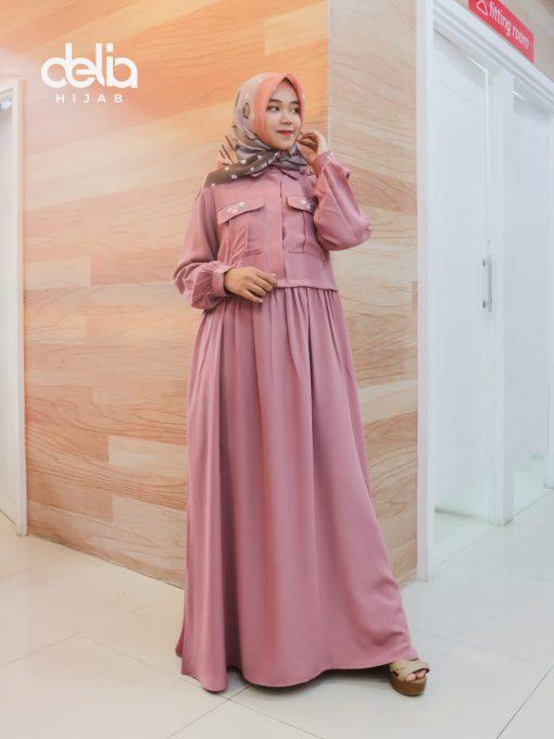 Baju Gamis Modern - Nusa Dress - Delia Hijab
