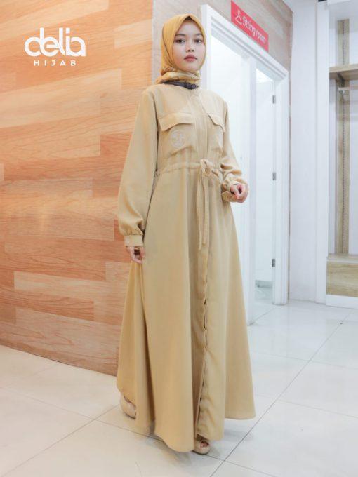 Baju Gamis Modern - Malina Dress - Delia Hijab