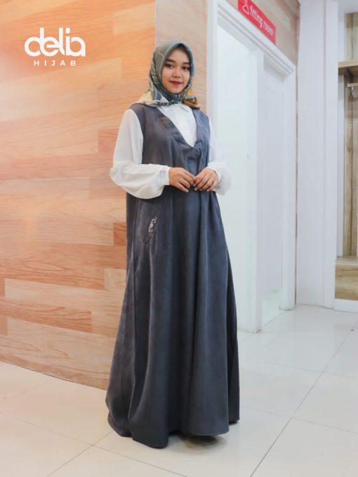 Baju Gamis Modern - Niesha Dress - Delia Hijab