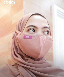 Masker Kain Hijab - Masker Polos List - Delia Hijab