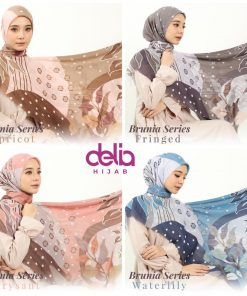 Hijab Segi Empat - Burnia Scarf -Delia Hijab
